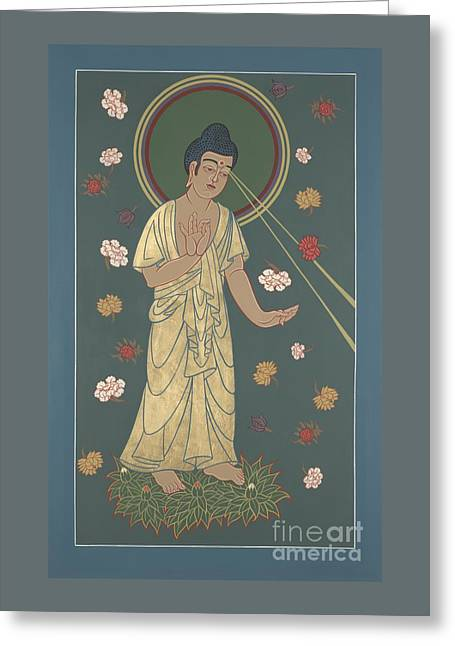 The Amitabha Buddha Descending 247 Greeting Card
