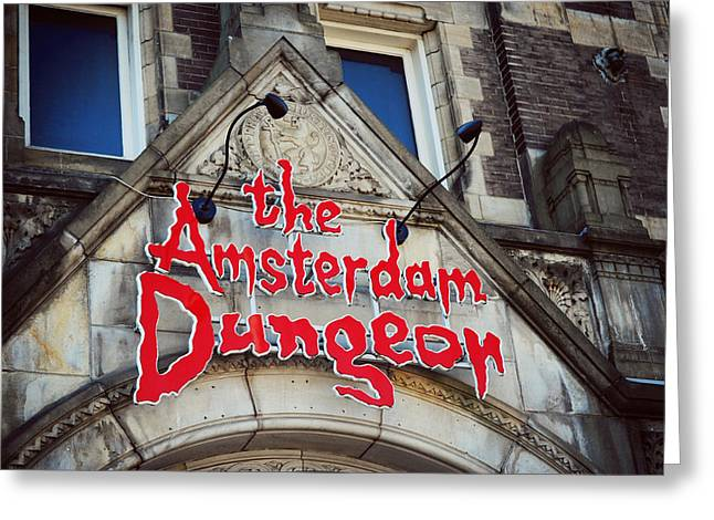The Amsterdam Dungeon 1 Greeting Card by Jenny Rainbow