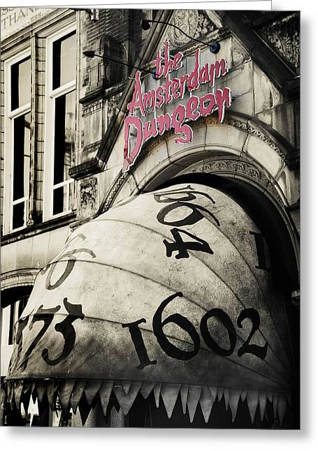 The Amsterdam Dungeon Greeting Card by Jenny Rainbow