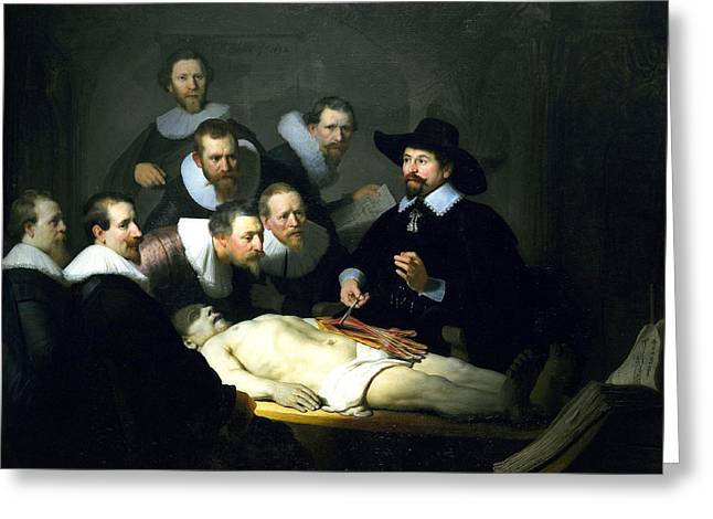The Anatomy Lesson Greeting Card by Rembrandt
