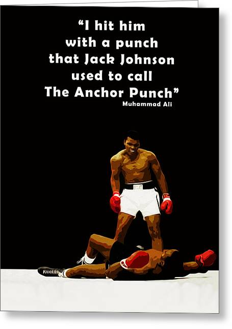The Anchor Punch Greeting Card by Mark Rogan