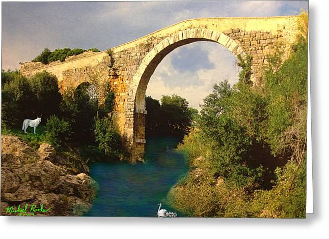 The Ancient Bridge Greeting Card by Michael Rucker