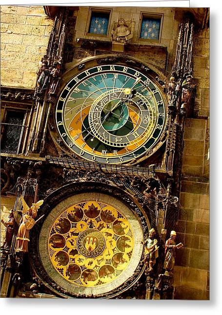 The Ancient Of Clocks Greeting Card by Ira Shander