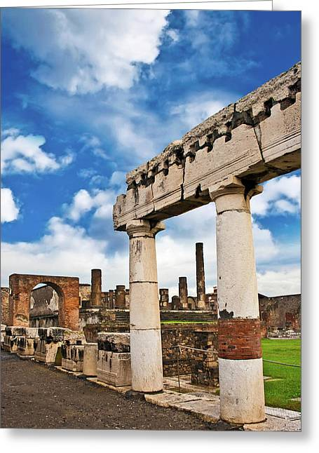 The Ancient Ruins Of Pompeii, Italy Greeting Card by Miva Stock