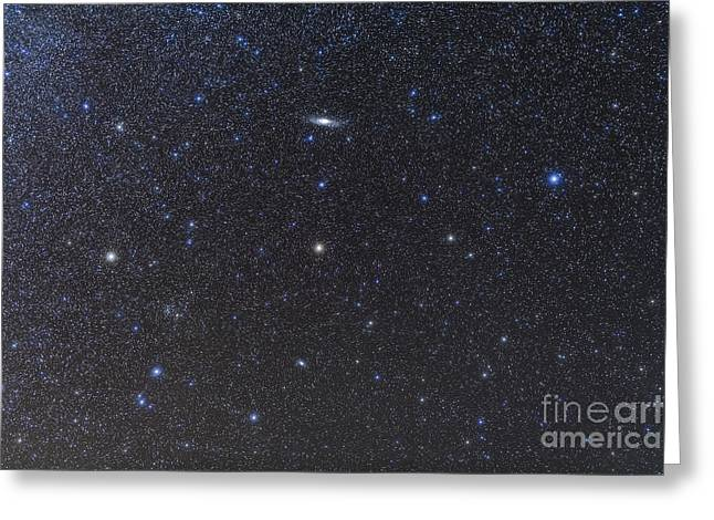The Andromeda Galaxy And Triangulum Greeting Card by Alan Dyer