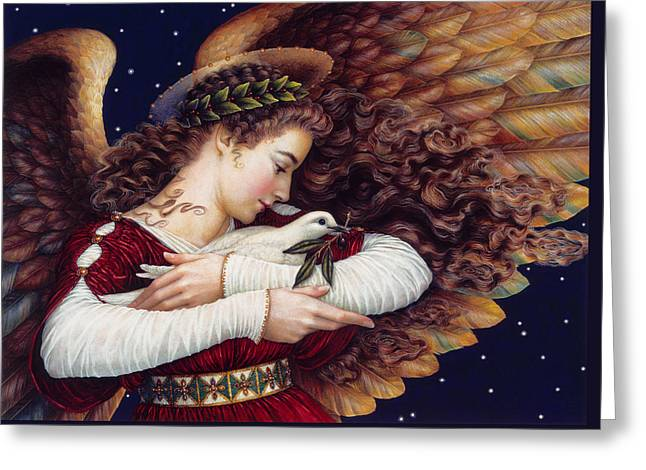 The Angel And The Dove Greeting Card