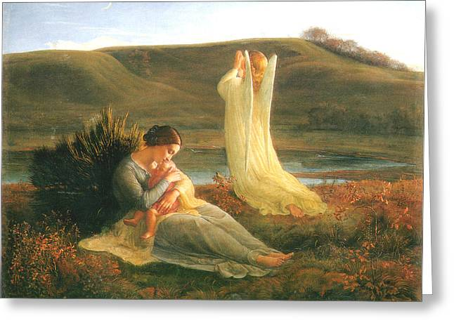 The Angel And The Mother Greeting Card