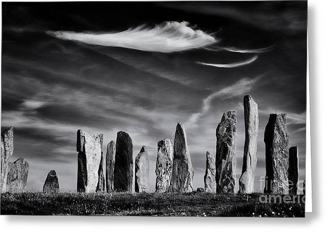 The Angel Of Callanish  Greeting Card by Tim Gainey