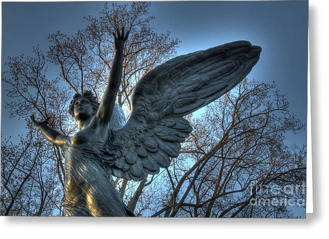 The Angel Of Dusk Greeting Card
