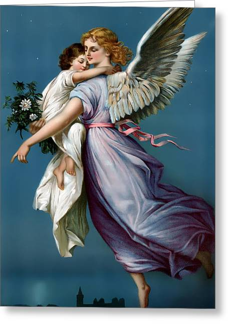 The Angel Of Peace For I Phone Greeting Card