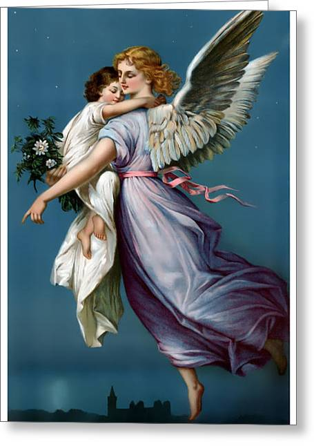 The Angel Of Peace Greeting Card by Terry Reynoldson