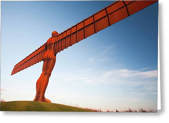 The Angel Of The North Sculpture Greeting Card by Ashley Cooper