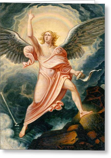 The Angel Proclaiming The End Of Time Greeting Card