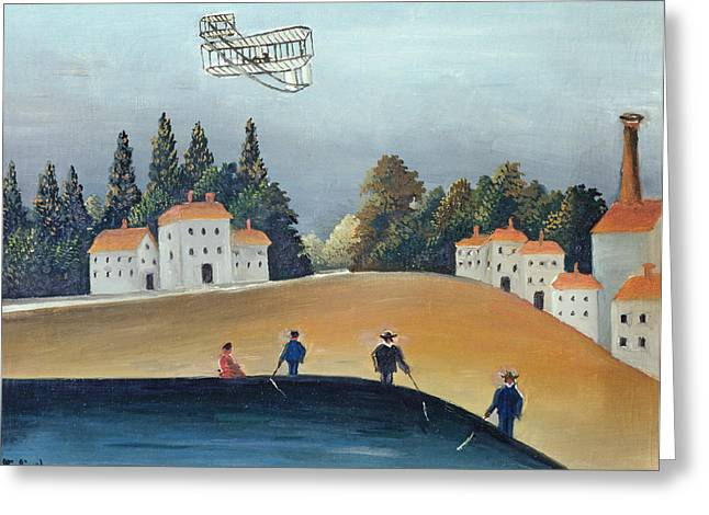 The Anglers, C.1908-09 Oil On Canvas Also See 309520 Greeting Card by Henri J.F. Rousseau