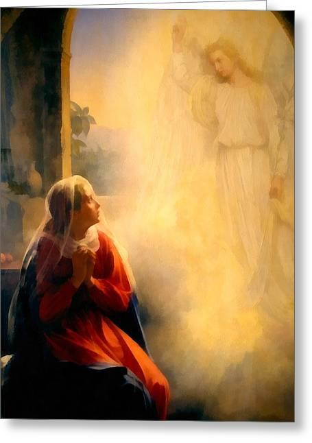 The Annunciation Greeting Card by Carl Bloch
