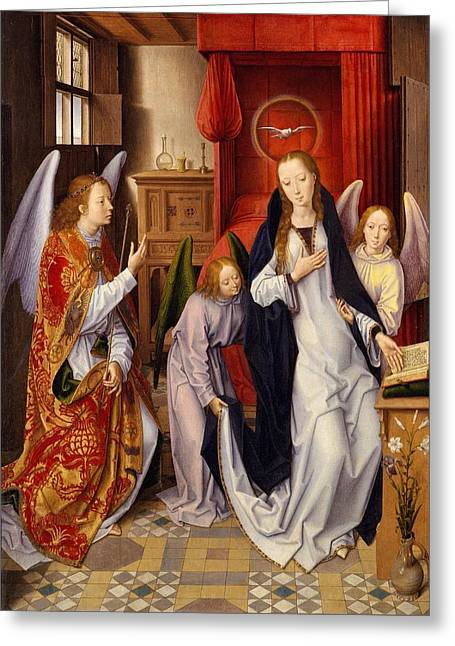 The Annunciation Greeting Card by Hans Memling