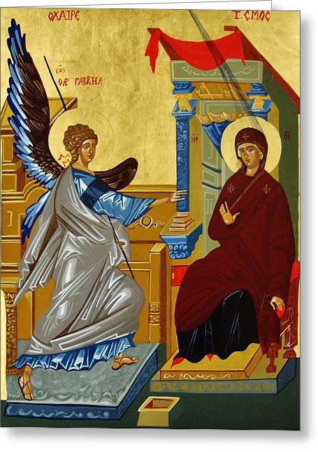 The Annunciation Greeting Card by Joseph Malham