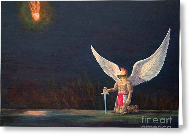 The Anointing Of St Michael Greeting Card