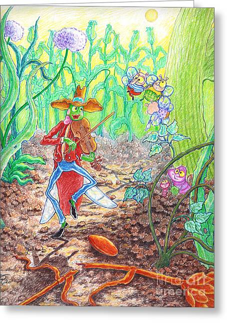 The Ant And The Grasshopper Greeting Card by Teodora Reytor
