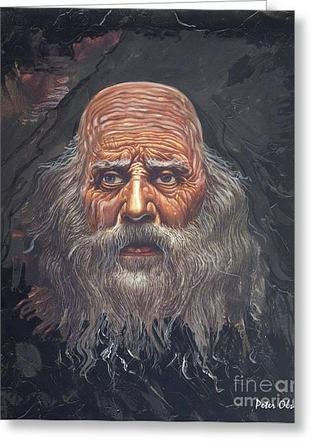 The Apostle John Greeting Card by Peter Olsen
