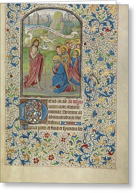 The Apostolic Mission Willem Vrelant, Flemish, Died 1481 Greeting Card by Litz Collection