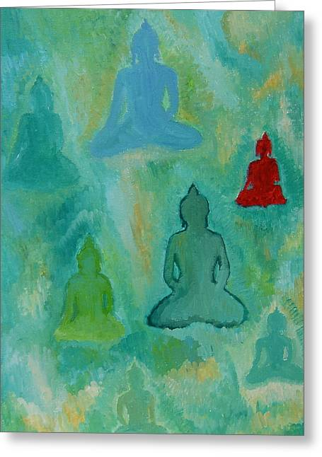 Buddhas Appear Greeting Card