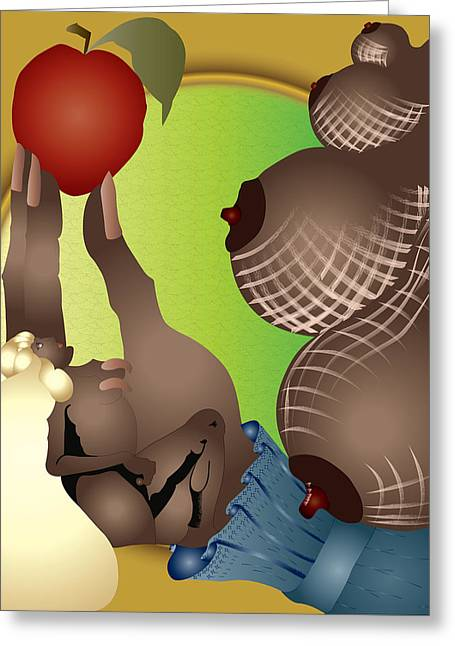 The Apple Greeting Card by Charles Smith