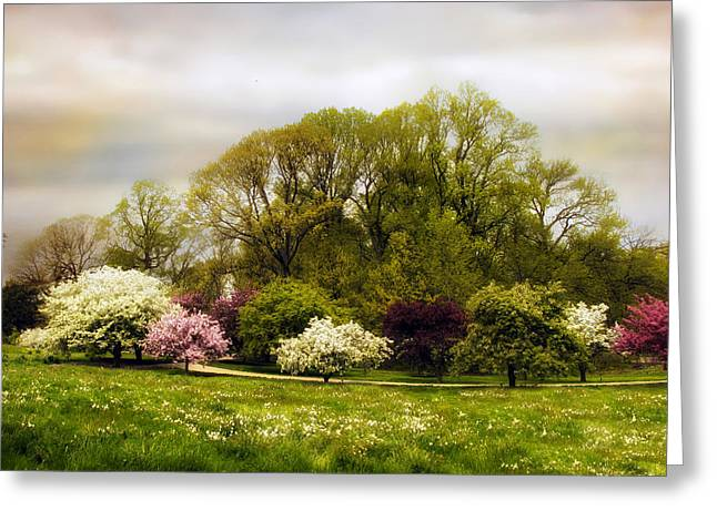 The Apple Orchard Greeting Card by Jessica Jenney