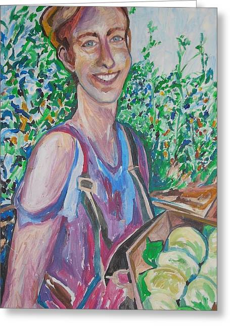 The Apple Picker Greeting Card