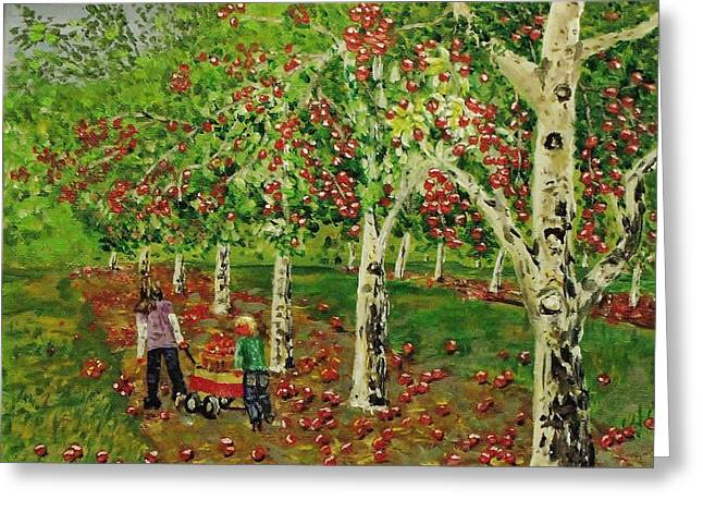 The Apple Pickers Greeting Card