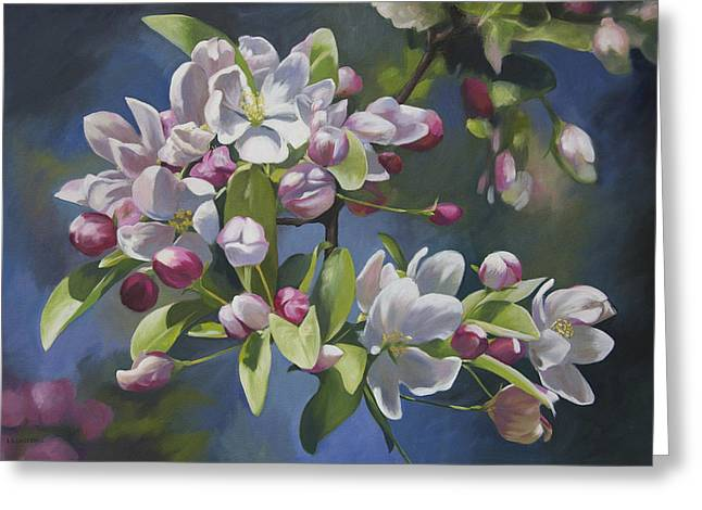 Greeting Card featuring the painting The Apple Tree by Alecia Underhill