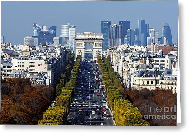 The Arc De Triomphe Paris France Greeting Card