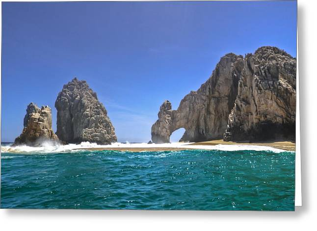 Greeting Card featuring the photograph The Arch  Cabo San Lucas On A Low Tide by Eti Reid