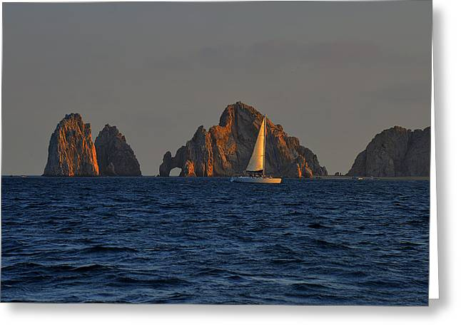 The Arch El Arco Cabo San Lucas Greeting Card by Christine Till