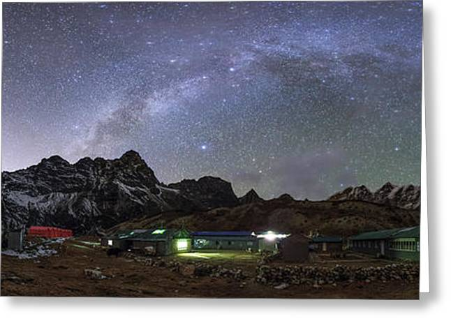 The Arch Of The Milky Way Galaxy Greeting Card by Jeff Dai