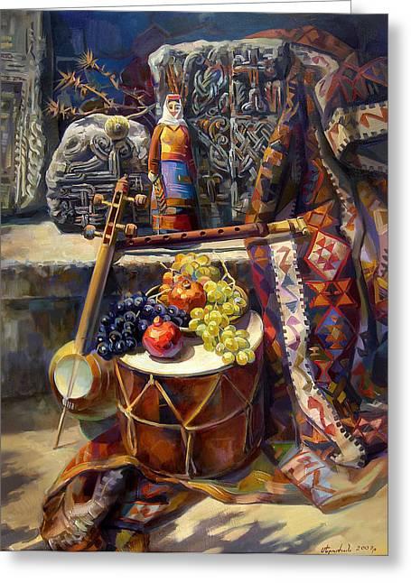 The Armenian Still-life With A Armenian Doll Greeting Card