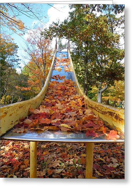 The Arrival Of Fall Greeting Card