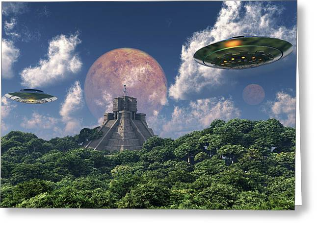 The Arrival Of Planet Nibiru As Seen Greeting Card