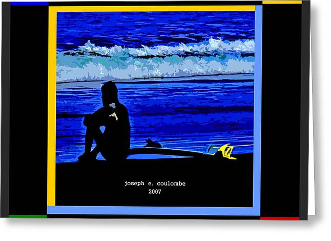 The Art Of A Rubick Surfer Greeting Card by Joseph Coulombe