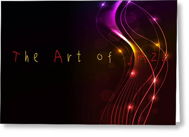 The Art Of Jazz Greeting Card by Liane Wright