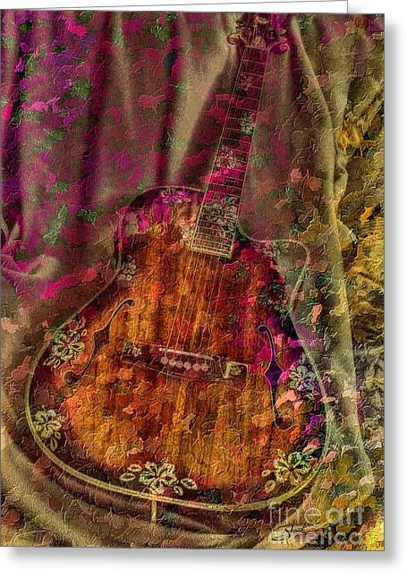 The Art Of Music Greeting Card by Steven Lebron Langston