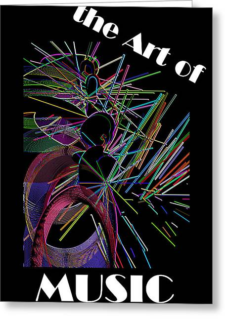 The Art Of Music With Spy Greeting Card