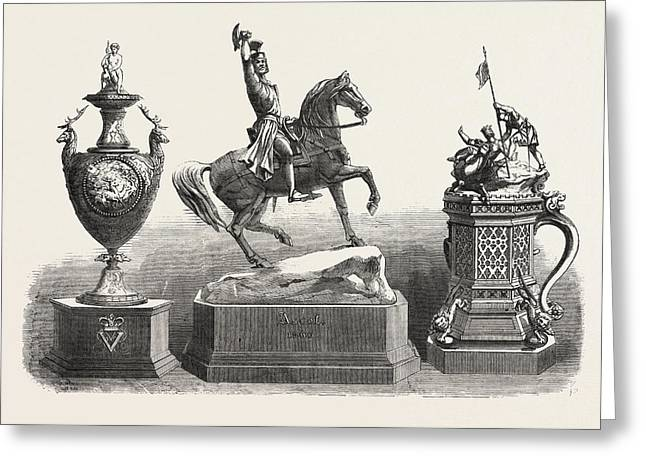The Ascot Race Plate The Royal Hunt Cup Greeting Card by English School