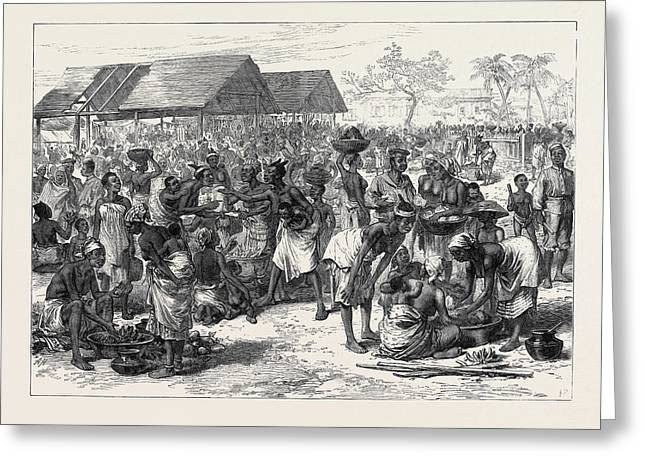 The Ashantee War General Market Cape Coast Castle 1874 Greeting Card by English School
