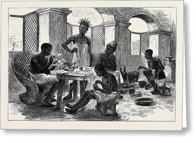 The Ashantee War Jewellers Shop Cape Coast Castle 1874 Greeting Card by English School