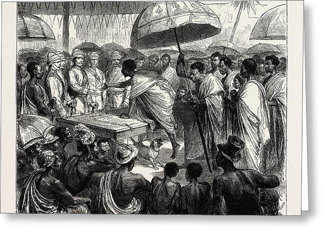 The Ashantee War, Reading The Queens Letter At The Palaver Greeting Card by African School