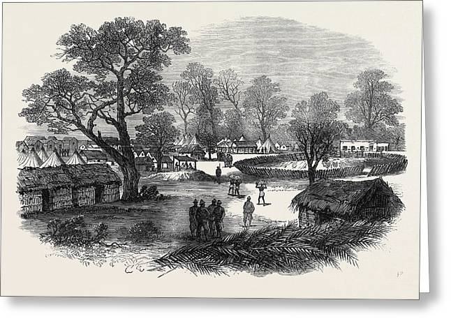 The Ashantee War The Camp At Dunquah 1874 Greeting Card by English School
