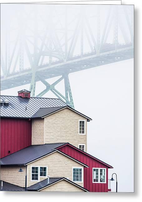 The Astoria-megler Bridge Disappears Greeting Card