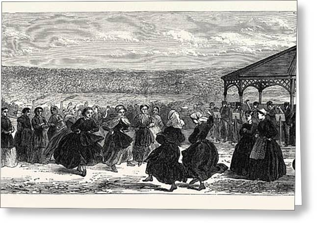 The Asylum For Criminal Lunatics Broadmoor The Airing-court Greeting Card by English School