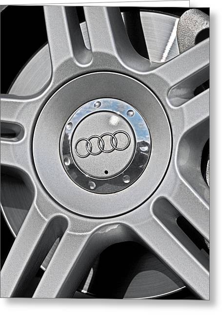 The Audi Wheel Greeting Card